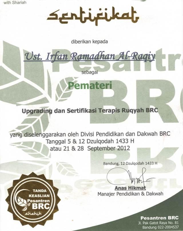Download Materi Sertifikasi Ruqyah Syar'iyyah (Kajian Ruqyah, Perdukunan & Solusi al-Islam)